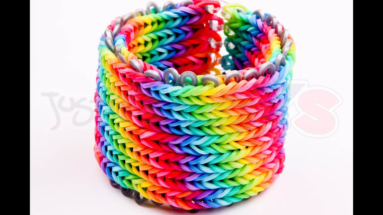 Alpha Loom - Seven 7 row Fishtail Rainbow Loom Bracelet ...
