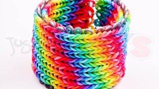 Alpha Loom - Seven 7 row Fishtail Rainbow Loom Bracelet