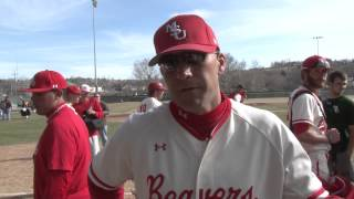 Minot State Baseball Post Game vs  Minnesota Crookston