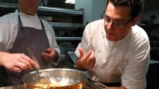 The Peninsula's Chef David Codney Prepares Truffle Mac N Cheese