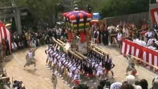 長崎くんち 樺島町 コッコデショ(太鼓山) 諏訪神社2011