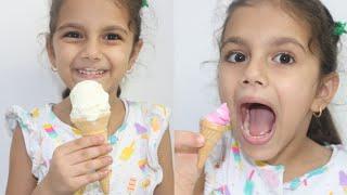 ايس كريم صغير ضد كبير | sewar pretend play with ice cream