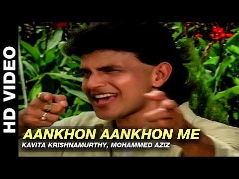 Aankhon Aankhon Me - Parivaar | Kavita Krishnamurthy, Mohammed Aziz | Mithun Chakraborty
