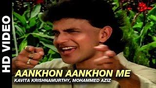 Aankhon Aankhon Me - Parivaar   Kavita Krishnamurthy, Mohammed Aziz   Mithun Chakraborty