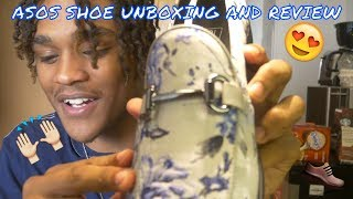 UNBOXING AND REVIEW of ASOS DESIGN loafers #ASOS #FLORAL #UNBOXING #REVIEW