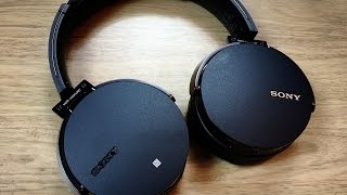 sony mdr xb950bt bluetooth headphones unboxing review