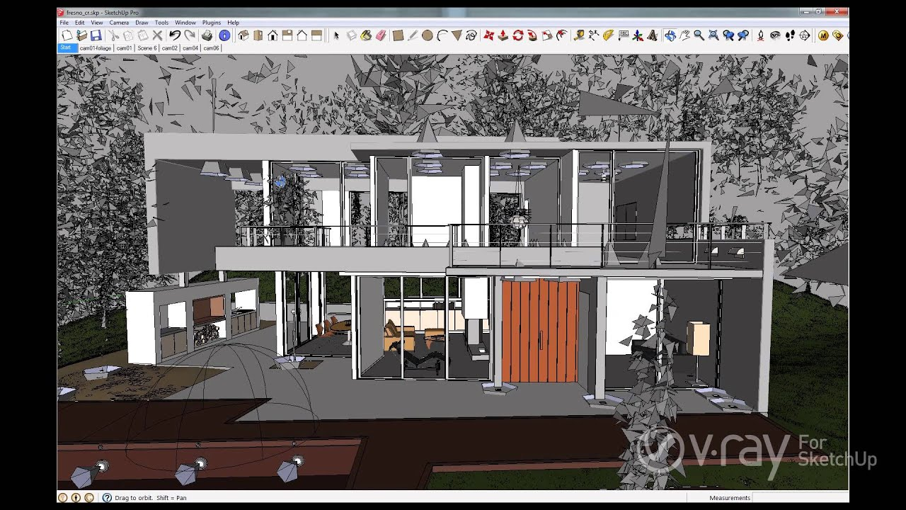 V ray 2 0 for sketchup v ray proxy youtube for Sketchup 2013
