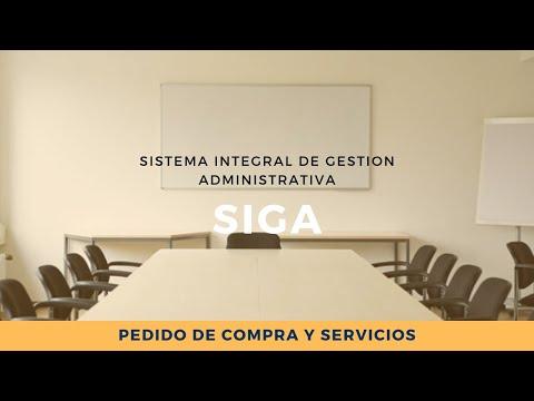 SIGA - PEDIDO DE COMPRA Y SERVICIO