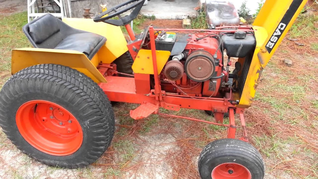 1968 Case 195 Garden tractor YouTube