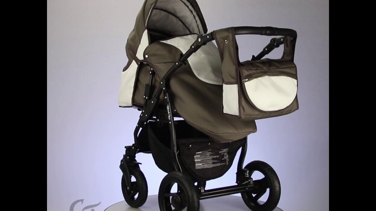 Gallardo Baby Black Lux Babakocsi - Sport lábzsák - Olíva Krém - YouTube 727cc5641d
