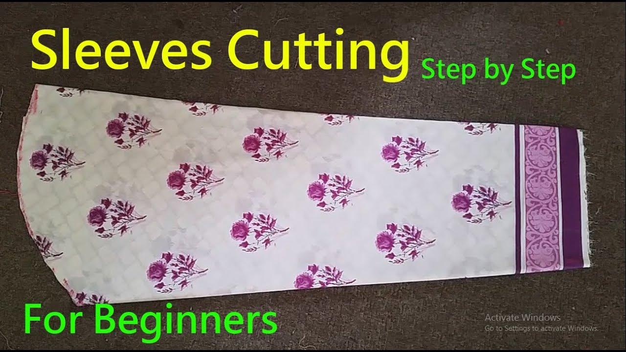 Bazo Ki Cutting| Sleeves cutting|How To Cut Perfect Sleeve|Simple ...