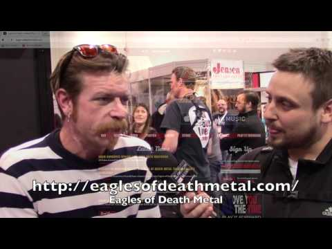 Eagles of Death Metal singer Jesse Hughes W/ Brian Engelman @ NAMM 2017