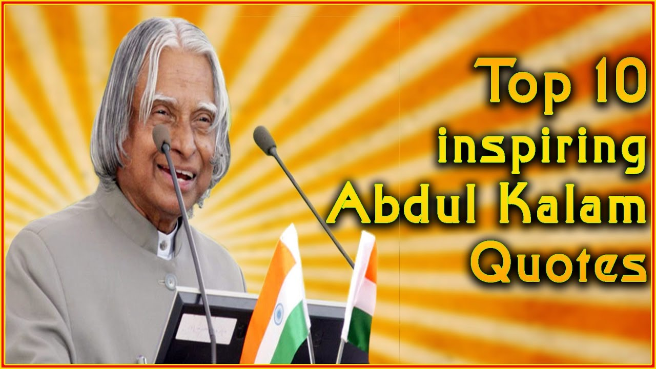 Top 10 Abdul Kalam Quotes Inspirational Quotes Youtube