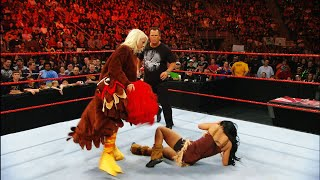 Maryse reveals herself as the Gobbledy Gooker during the Mayflower Melee: Raw, Nov. 23, 2009