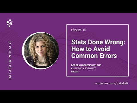 Statistics Done Wrong: How to Spot & Avoid Common Stats Errors w/ @Debbiebere #DataTalk