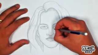 Como desenhar a face feminina (How to draw female face)