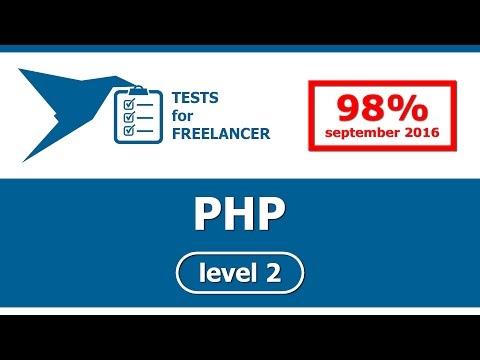 Freelancer - PHP - level 2 - test (95%)