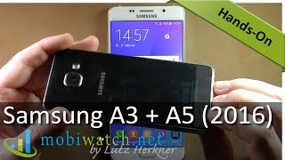 samsung galaxy a5 a3 2016 hands on video review