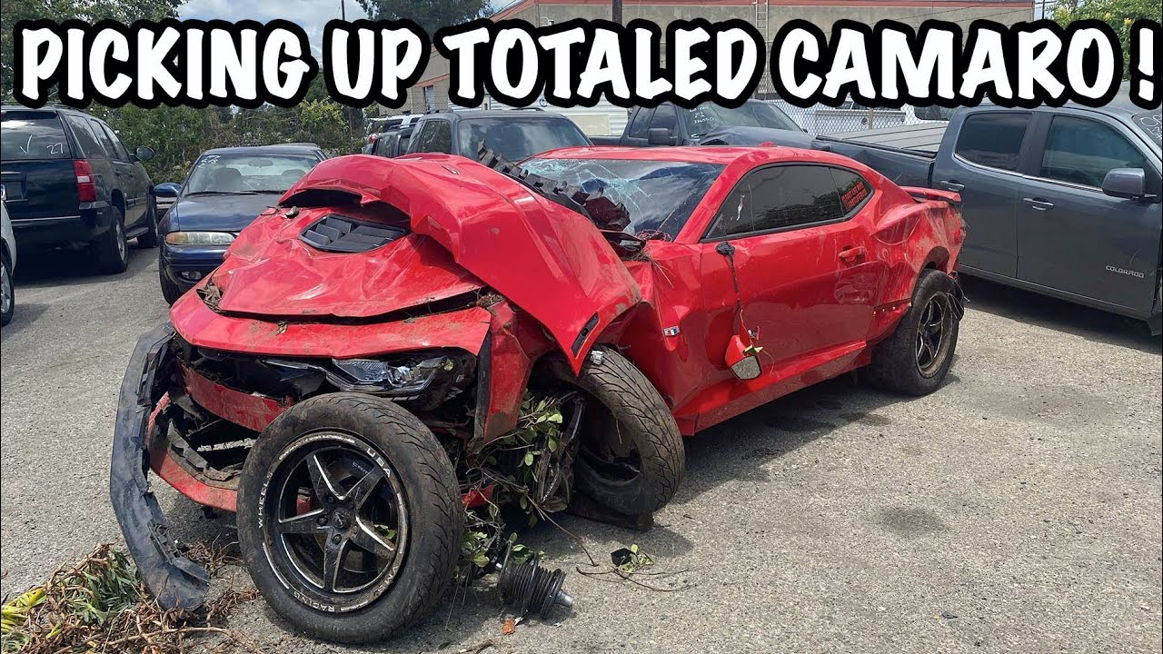 Picking Up My TOTALED 2019 Camaro SS after CRASH !