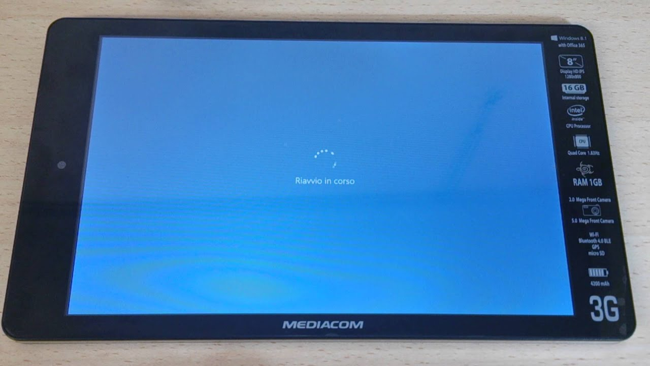 Mediacom smartpad 8 0 hd ipro w810 3g windows 10 versione 1511