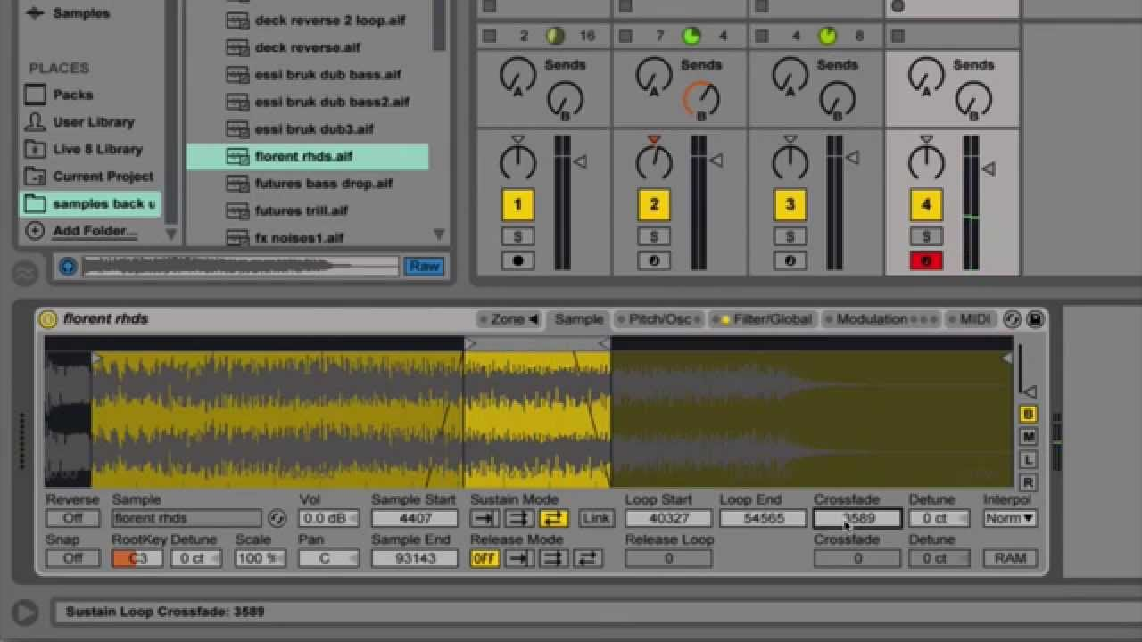 SubBass Ableton Tutorial - Looping in the sampler