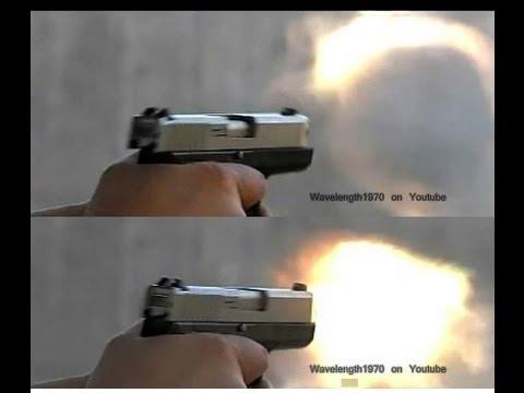 Kahr CW9 9mm filmed with high-speed camera, 600 frames/sec