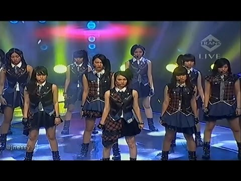 JKT48 - R.I.V.E.R + Overture @ IMB TRANSTV [13.05.26]