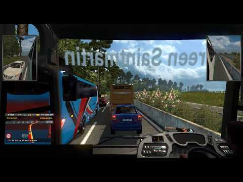 ETS2: BD Bus Race in Dhaka - Bandarban Highway - Green Saintmartin Express Hyundai | RJ Solution |