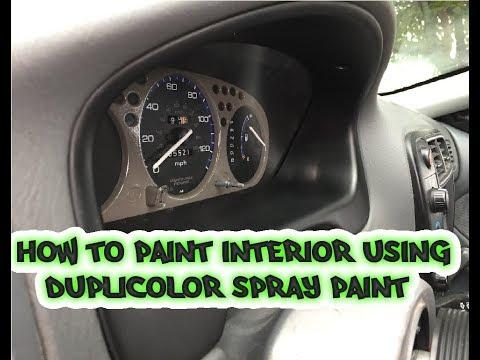 How To Paint Gauge Cluster & Dash Bezel Using Duplicolor & Tractor Paint.