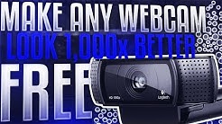 HOW TO MAKE ANY WEBCAM LOOK BETTER *FOR FREE* [2019]