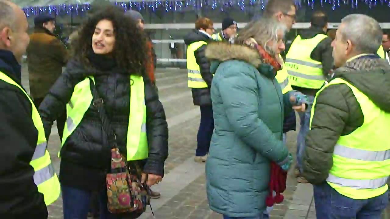 Gilets Jaunes 29 décembre 2018 Liège-Guillemins
