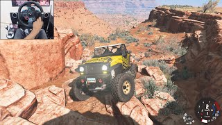 Realistic rock crawling - BeamNG.drive | Logitech g29 gameplay