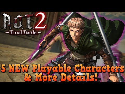 5 NEW Playable Characters & More Details ! | Attack On Titan 2