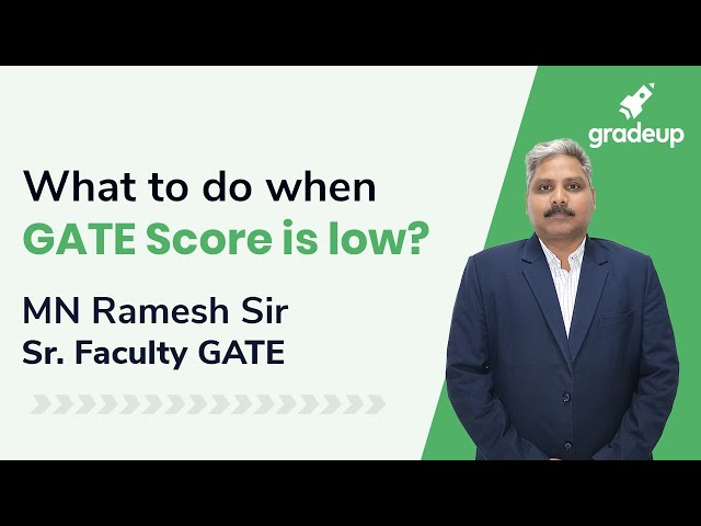 What to do if GATE Score is Low BY MN Ramesh Sir