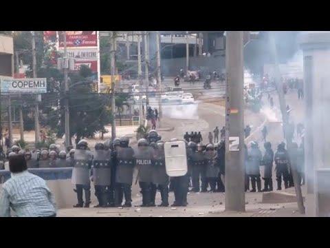 Honduras protesta contra la investidura de Juan Orlando Hernández