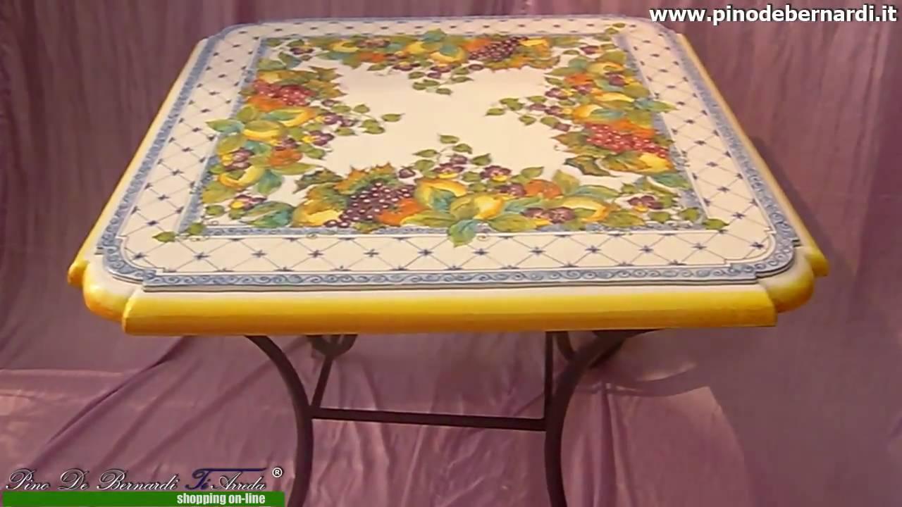 tavolo quadrato in ceramica - YouTube