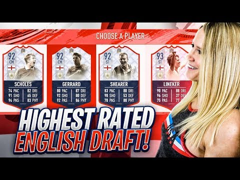FIFA 19 HIGHEST RATED ENGLAND FUT DRAFT CHALLENGE!!