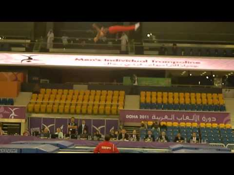 Ahmed Rady (1st Routine) Egypt - Trampoline Arab Games 2011