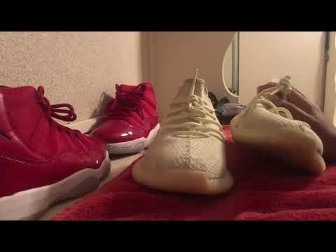 Cleaning yeezy butters part 1