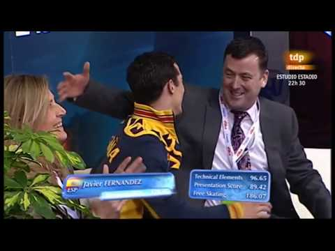 Javier Fernandez - All Gold Medal Winning Free Skates - European Championships