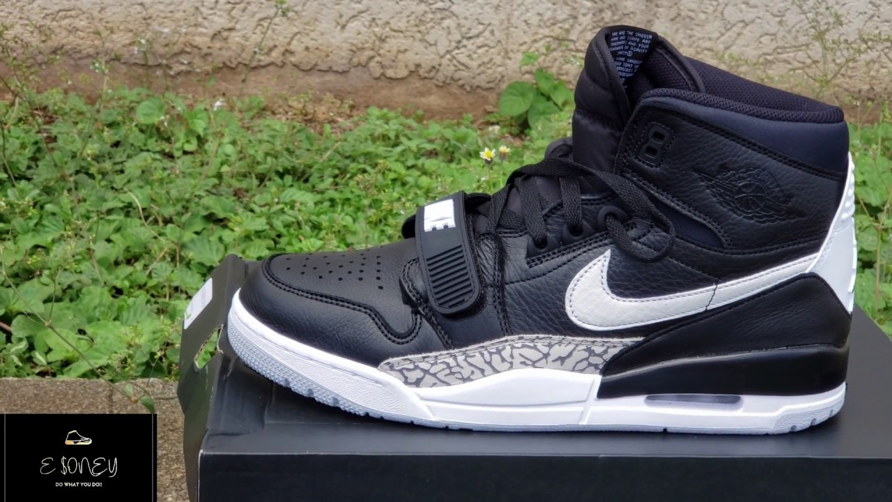 cf3a9429c8a air jordan legacy 312| black and white| unboxing - YouTube