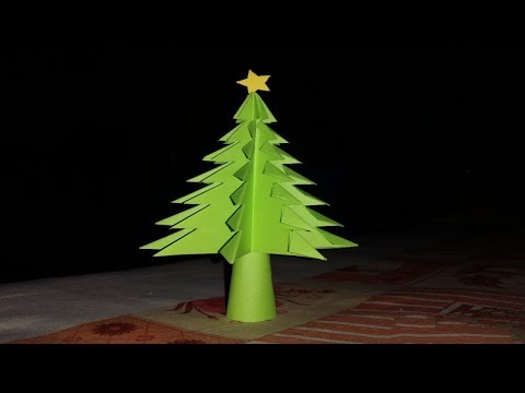 How to make 3d Christma tree 🌲 with A4 size colouring paper easily....!!! DIY