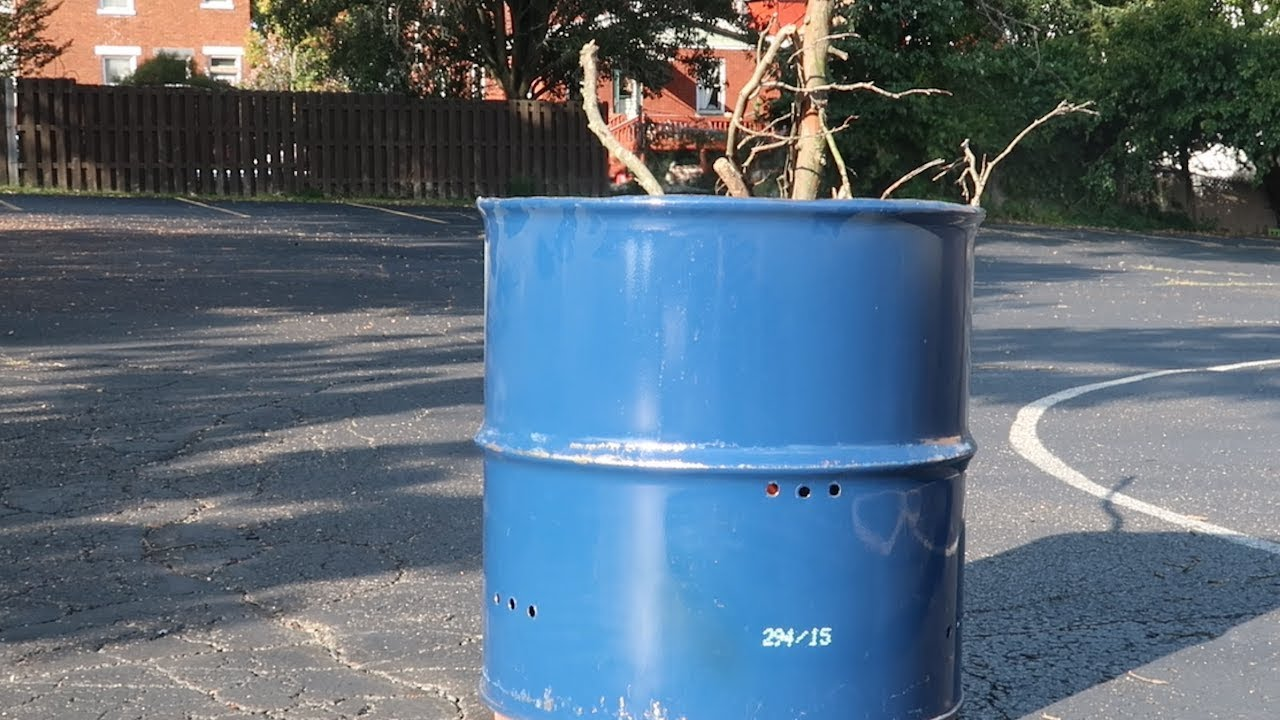 How to Build a Backyard Fire Pit using a 55 Gallon Drum ...