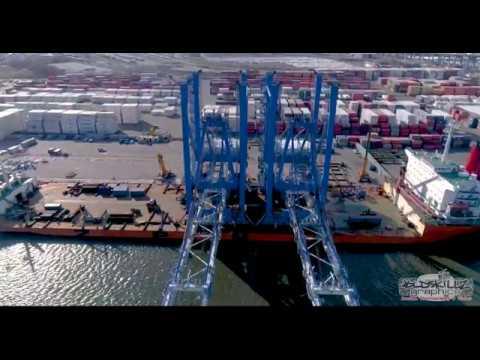 New Post Panamax cranes at Port of Philadelphia, Packer Ave