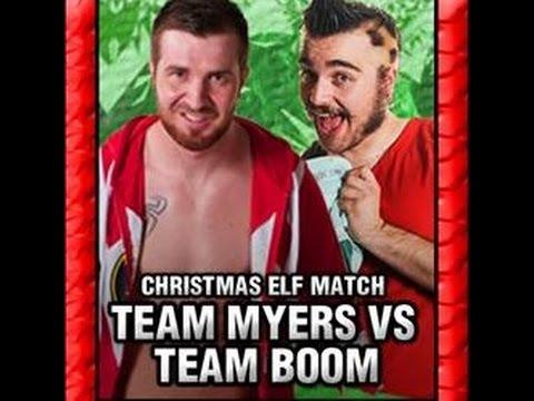 Team Boom vs Team Myers - Christmas Elf Match *FAN CAM*
