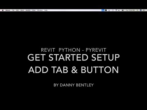 Revit Python Beginner's Guide to Setting up a Tab and Button using PyRevit.