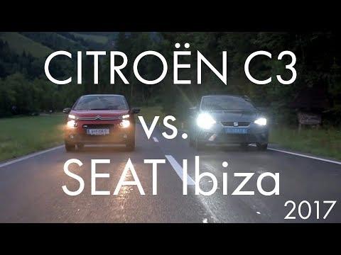 CITROËN C3 vs. SEAT Ibiza 2017