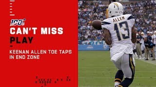 Keenan Allen Toe Taps in the Corner of the End Zone!