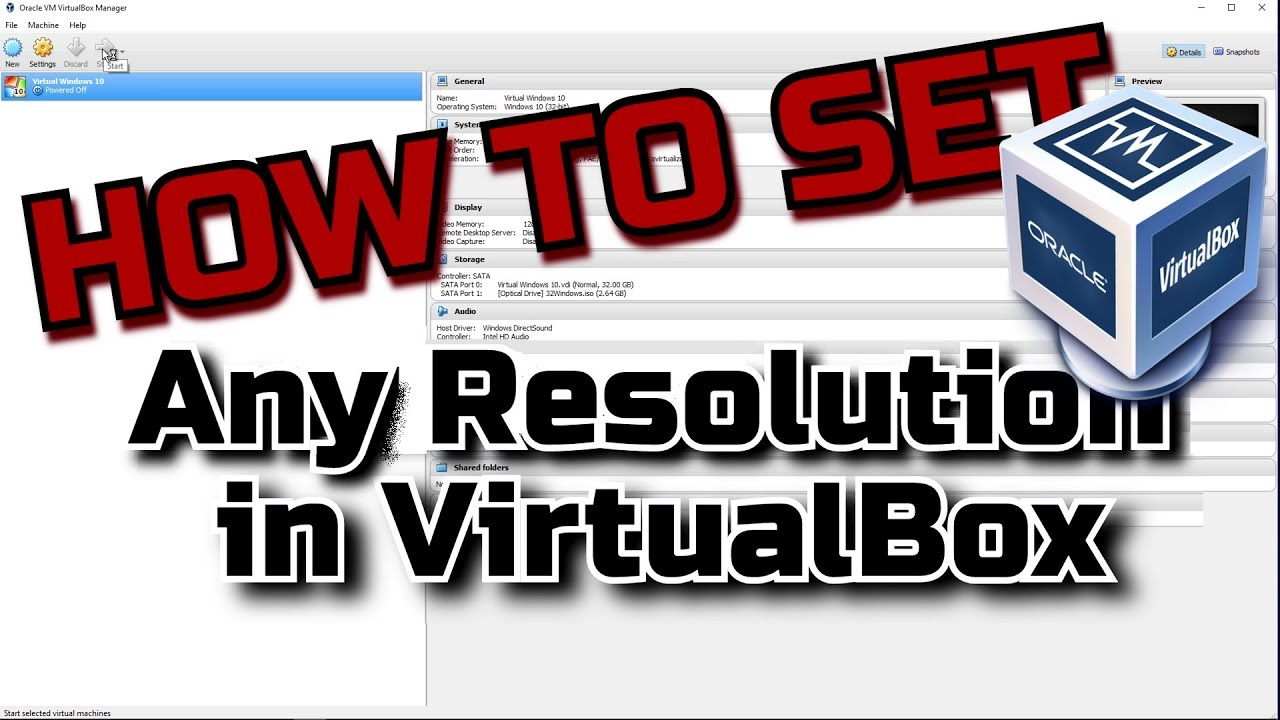 BEST! How To Change VirtualBox Resolution Tutorial [SOLVED 2017]
