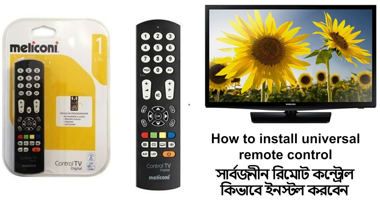 How To Install Universal Remote Control ( Meliconi )